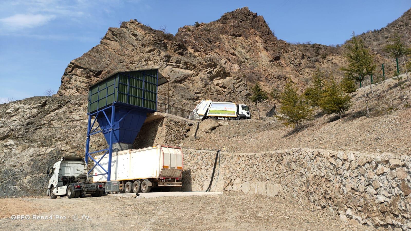 İlçemiz Kireç deresi mevkiinde bulunan Katı Atık istasyonu hizmete açıldı. -